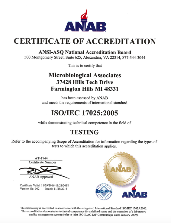 ANAB -  ANSI-ASQ National Accreditation Board